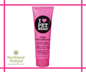 Pet Head High Maintenance Leave In Conditioner Strawberry Yogurt