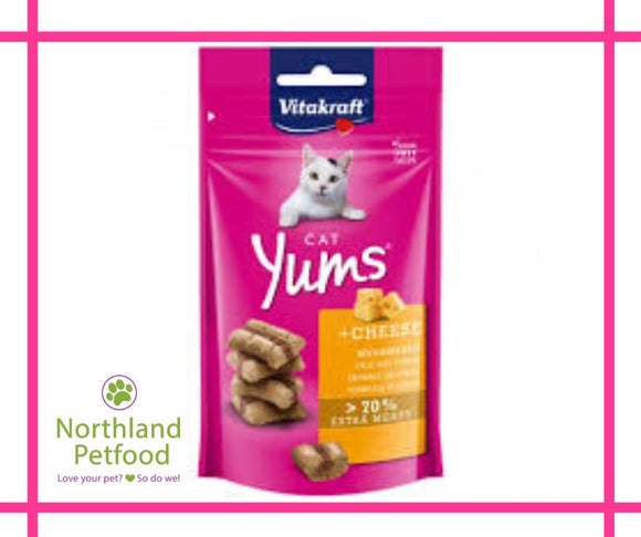Vitakraft Cat Yums Cheese Treats 40g