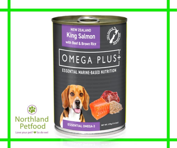 Omega Plus- King Salmon & Beef 375g- Buy 10 & get one Free!