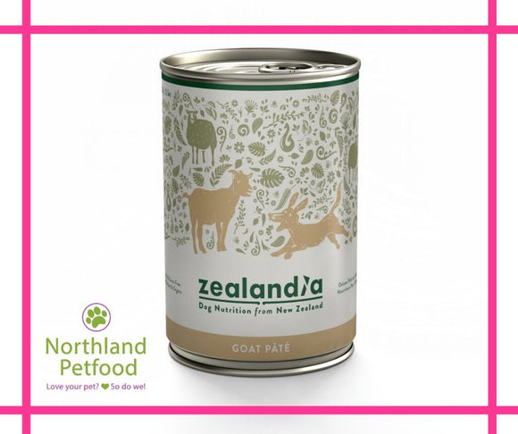 Zealandia Dog Food Goat 385g- NEW -Buy 10 Get 1 Free!
