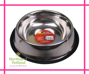 Pet One Stainless Steel Bowl [Anti Skid Anti Tip]