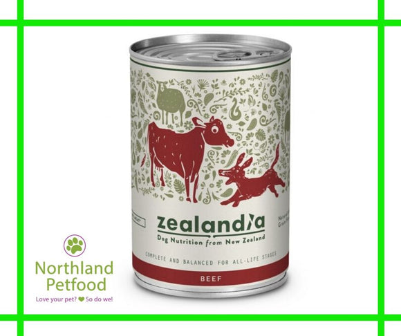Zealandia Dog Food Beef 385g- Buy 10 Get 1 Free