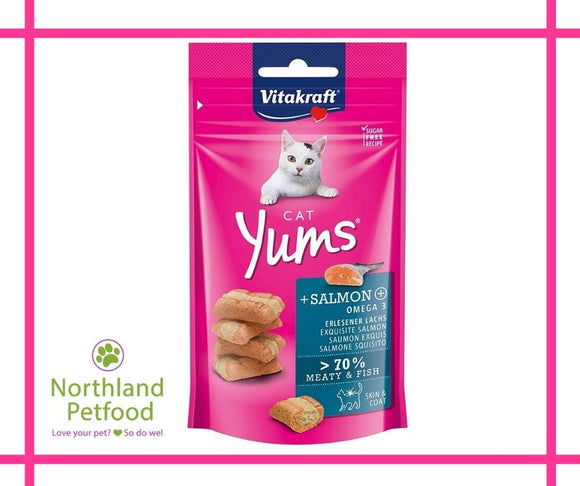 Vitakraft Cat Yums Salmon Treats 40g