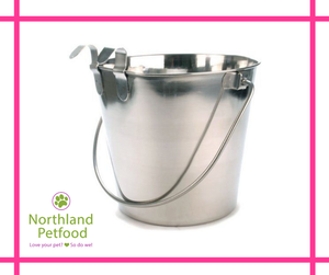 Pet One Water Pails, Stainless Steel