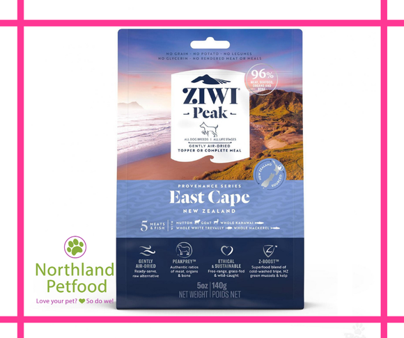 ZIWI Peak Provenance East Cape