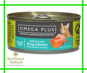 Omega Plus- King Salmon with Chicken 85g- Buy 10 & get 1 Free!