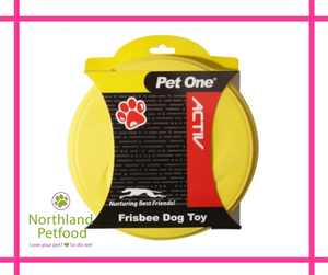 Pet One Activ Rubber Frisbee - Yellow