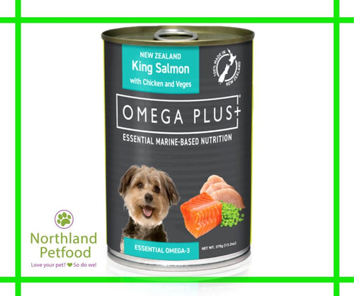 Omega Plus- King Salmon & Chicken 375g- Buy 6 Get 10% Off!