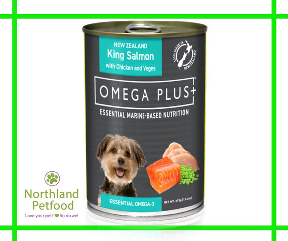 Omega Plus- King Salmon & Chicken 375g- Buy 10 and get 1 Free!
