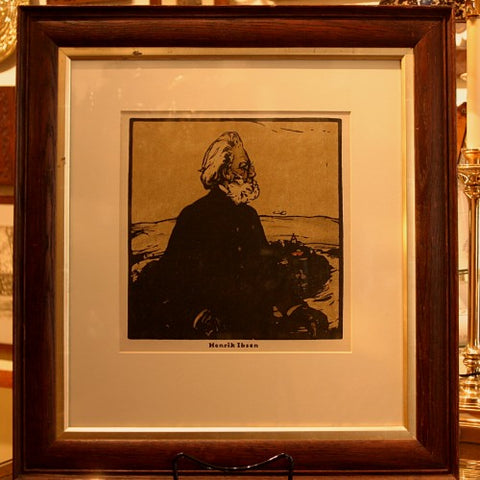 Lithograph Print of Norwegian Playwright Henrik Ibsen by Sir William Nicholson, RA (LEO Design)
