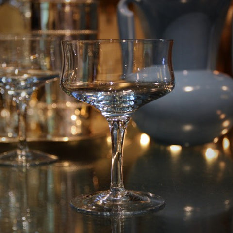 Japanese Ice Blue Crystal Demi-Coupes (LEO Design)