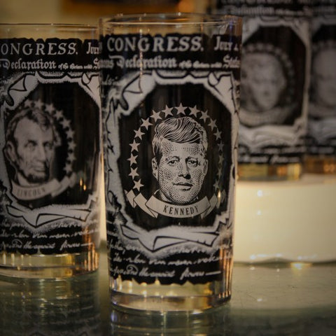 Set of Presidential Highball Glasses (LEO Design)