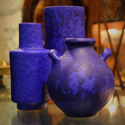 Collection of Cobalt Blue Ceramics by Hartwig Heyne, West Germany