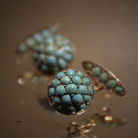 Edwardian English Turquoise Cufflinks (LEO Design)