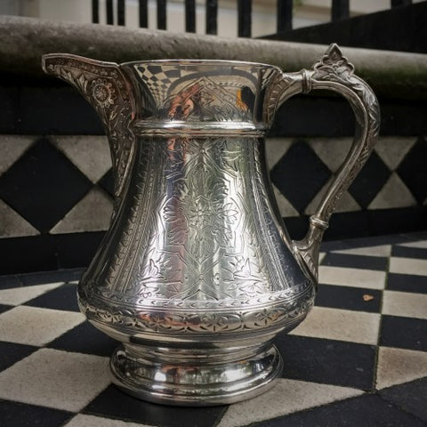 American Silver-Plated Aesthetic Movement Pitcher (LEO Design)