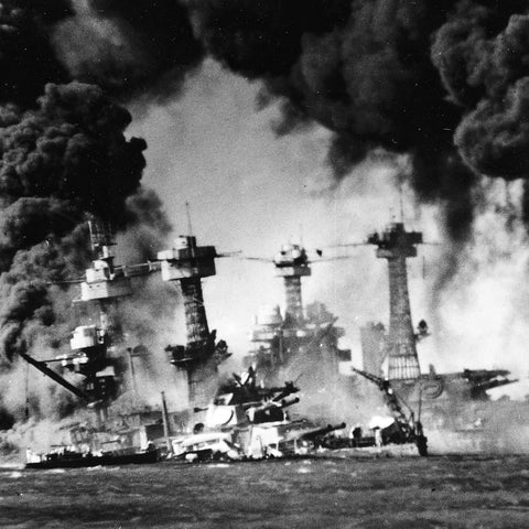 US Naval Photo of the Attack on Pearl Harbor (7 December 1941)