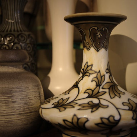Hand-Painted Vase with Persian-Style Decoration (LEO Design)