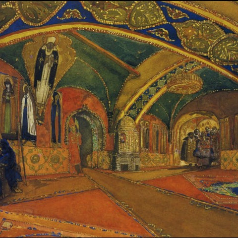 Stage Design for Scheherazade by Leon Bakst for the Ballet Ruses (LEO Design)
