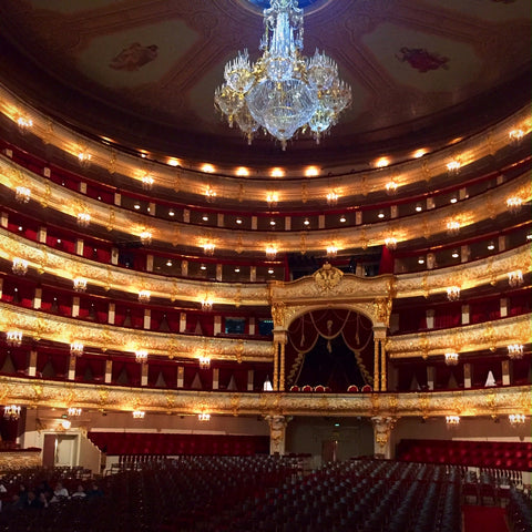 The Gilded Interior of the Bolshoi Theatre, Moscow (LEO Design)