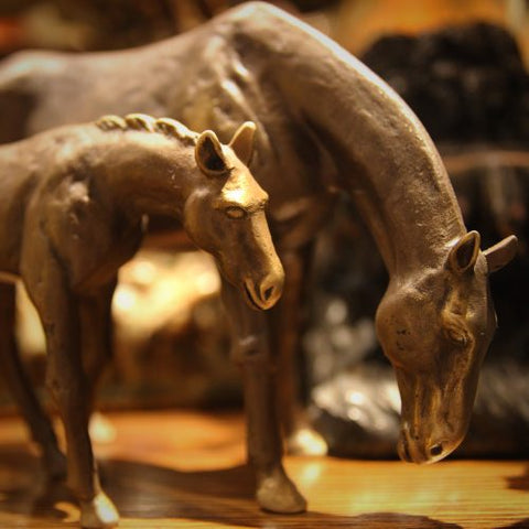 Bronze Mare and Foal Sculptures (LEO Design)