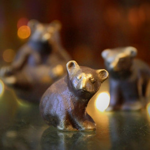 Cast Bronze Mama Bear and Cubs (LEO Design)