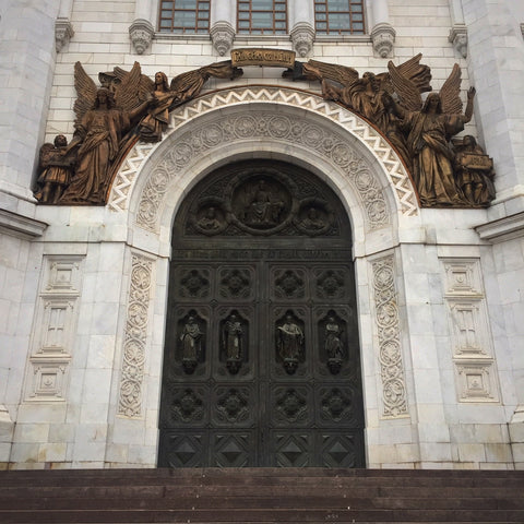 Bronze Door and Sculptures on Moscow's Cathedral of Christ the Savior (LEO Design)