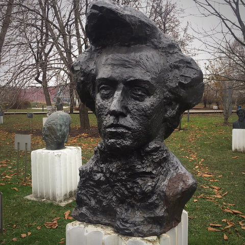 Bronze Chopin Bust by Aleksei Ilich Teneta in Muzeon Park of Arts, Moscow (LEO Design)