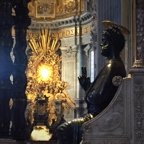 Bronze Sculpture of Saint Peter in the Basilica of Saint Peter, Vatican City (LEO Design)