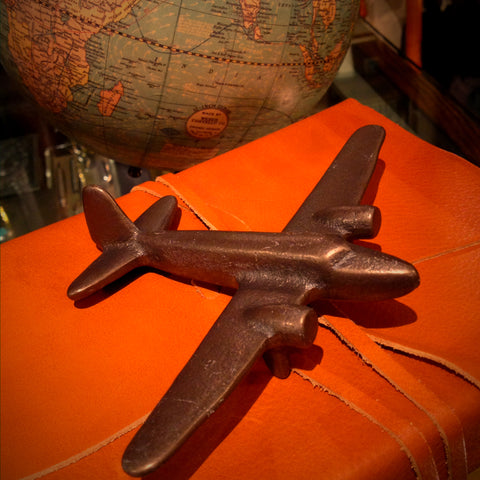 Cast Bronze Airplane Sculpture (LEO Design)