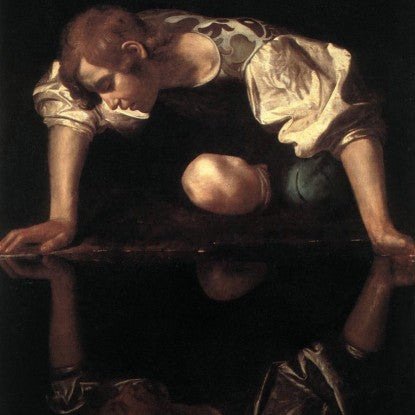 "Caravaggio's ""Narcissus"" painted 1597-1599 (LEO Design)"