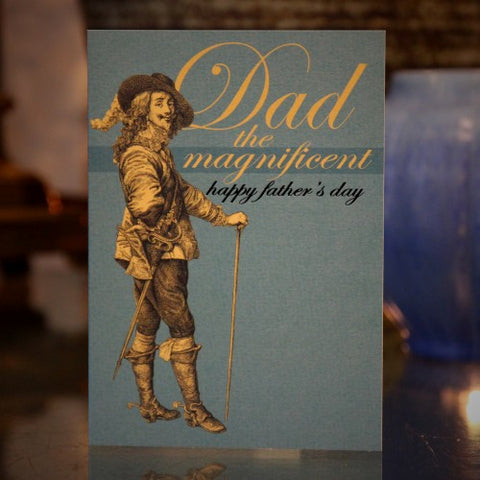 "British ""Cavalier"" Father's Day Greeting Card (LEO Design)"