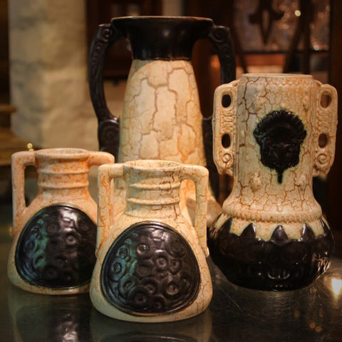 Collection of Czech Secessionist Art Pottery at LEO Design