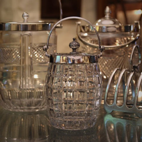 Victorian and Edwardian English Cut Glass Biscuit Barrels (LEO Design)