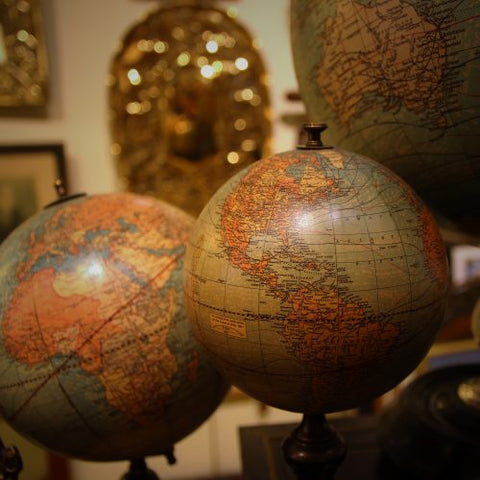 Collection of Globes at LEO Design