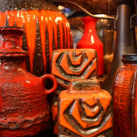 Collection of Orange Pottery at LEO Design