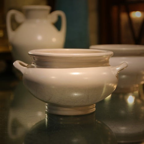 A Collection of Matte White Roseville Pottery at LEO Design