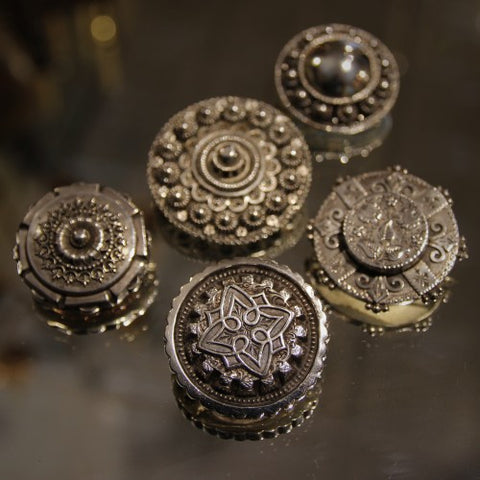 Victorian English Silver Shield-Form Brooches (LEO Design)