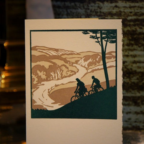 Countryside Bicycling Greeting Card (LEO Design)