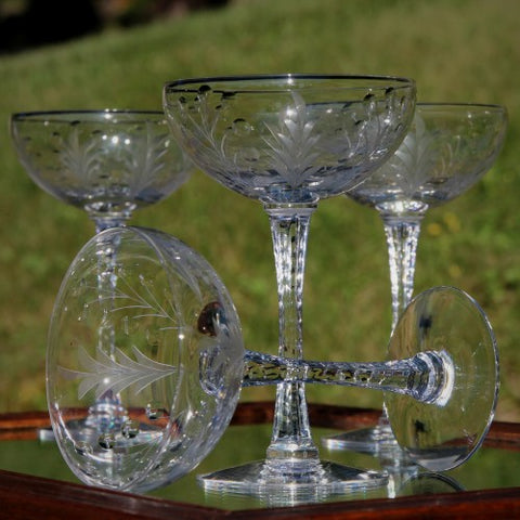 Cut Crystal Champagne Coupes (LEO Design)
