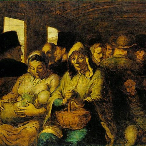 Honore Daumier's The Third Class Carriage (detail) 1862-64 (LEO Design)