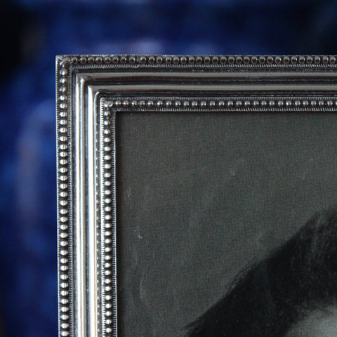 """Cast Pewter Photo Frame (Detail) with """"Double Beaded"""" Border (LEO Design)"""