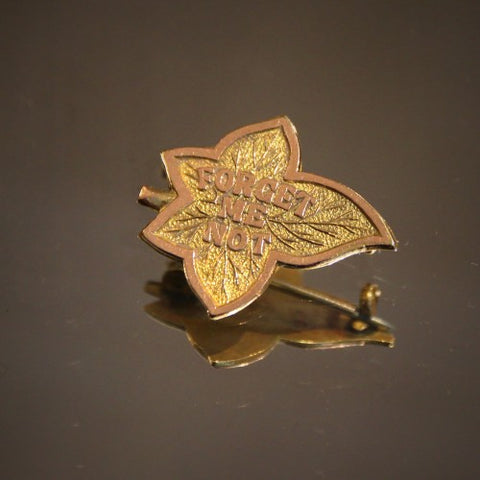 "English ""Forget-Me-Not"" Lapel Pin (LEO Design)"
