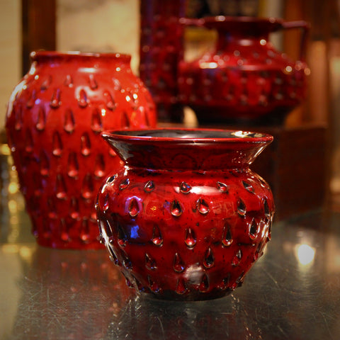 "Collection of Fratelli Fanciullacci ""Strawberry"" Ceramics from Florence, Italy (LEO Design)"