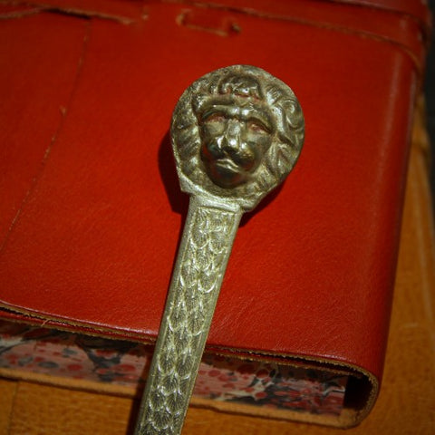 French Cast Brass Lion's Head Letterknife (LEO Design)