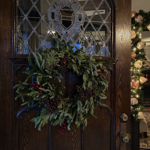 Christmas Wreath, Front Door and Entry Hall (LEO Design)