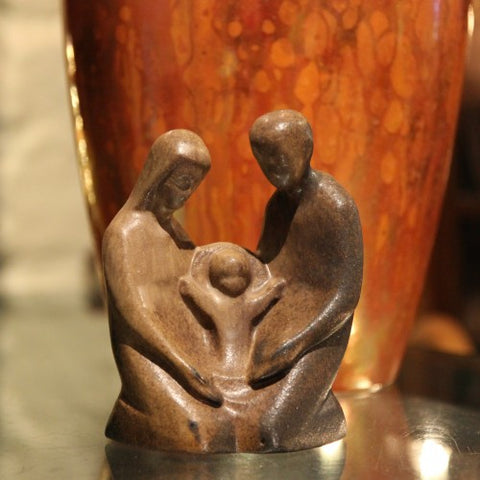 German Ceramic Holy Family Sculpture (LEO Design)