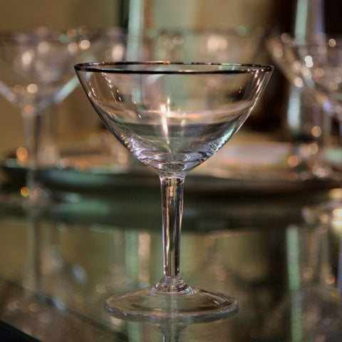 Gorham Crystal Martini Glass with Platinum Rims (LEO Design)