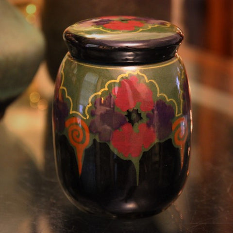 Gouda Dutch Hand-Painted Covered Jar (LEO Design)
