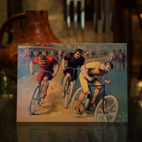 Cycles Clement Greeting Card by Lucien Baylac (LEO Design)