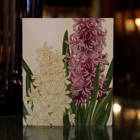 British Hyacinth Greeting Card (LEO Design)
